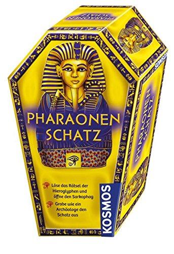 Kosmos 676056 Pharaonenschatz Ausgrabungsset und Rätselspaß mit Hammer und Meißel Hieroglyphen entziffern, Sarkophag öffnen und Grabschatz freilegen, für Kinder ab 7 Jahren, Thema Archäologie