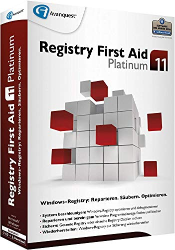 Registry First Aid 11.0 Platinum CD/DVD