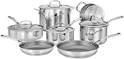 high quality CUISINART 2021 95-11 Forever lowest Collection Cookware Set, 11 Piece, Stainless Steel online sale