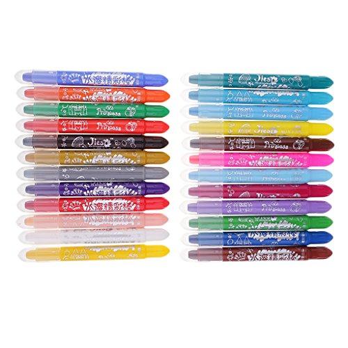 dailymall Ölpastelle Set Wasserlösliche Kinder Malen Zeichnung Sticks Kunst - 24- Farbe, 14,5 cm
