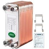 VEVOR Intercambiador de Calor de 40 Placas para Calefacción Adecuado para La Industria HVAC...