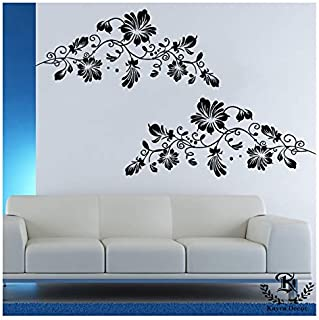 Kayra Decor 'Red Flower' Reusable Wall Stencils/DIY Painting Tools/ (PVC, 72-inch x 36-inch)