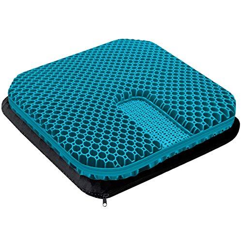 Gel Enhanced Seat Cushion - Non-Slip Orthopedic Gel Coccyx Cushion for...