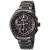 [セイコーウォッチ] 腕時計 ブライツ ソーラー電波 スポーティライン カーボン調黒文字盤 チタンモデル サファイアガラス SAGA263 メンズ ブラック