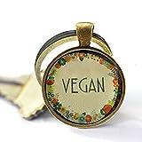 Stap Vegan Schlüsselanhänger – veganer Schmuck – Nature I Herz – veganes Geschenk – vegetarisch, sauber, gesunde Ernährung, handgefertigter Schmuck, Geschenk für Sie