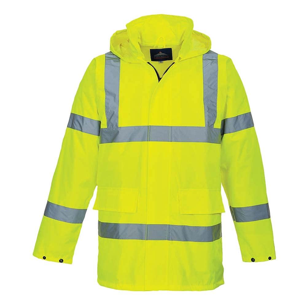 Portwest Workwear Mens Lite Traffic Jacket Yellow Small