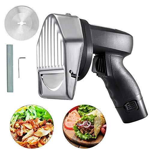 Riiai Elektrischer Schaschlikschneider Fleischmesser Döner Shawarma Schneidemaschine 2 Klingen zum effektiven Schneiden verschiedener Fleischarten und Knochen
