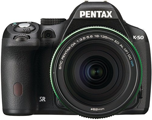 Pentax K-50 16MP Weather Resistant Digital SLR Camera with SMC DA 18-135 mm F/3.5-5.6ED AL [IF] DC WR Zoom Lens (Black)