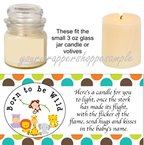 Soy Candle Favor Elephant Favors Zoo Baby Shower Decor Personalized Baby Shower Favors Animal Theme Baby Shower Favors 6 Candles