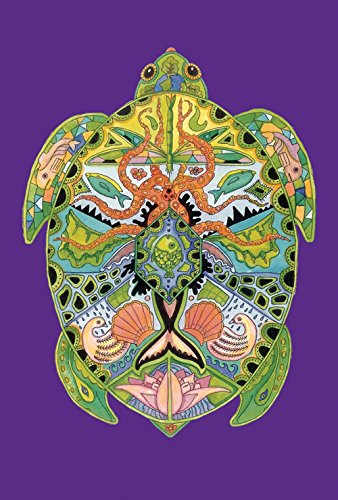 Toland Home Garden Animal Spirits Sea Turtle 28 x 40 Inch Decorative Native Ocean Creature Tortoise House Flag