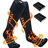 PBOX Heated Socks for Men/Women - Rechargeable Electric Socks with 5000mAh Large Capacity Battery- Up to 18 Hours of Heat, Upgrade Heating Element up to 158℉ (BXL5-9DM)