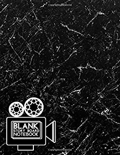 Blank Story Board Notebook: Clapperboard and Frame Sketchbook Log Book Guide Template Panel Pages Book and 4 Frames Per Page For Movie Making Gift For ... With 120 Pages (Film Writing & Sketching Log)