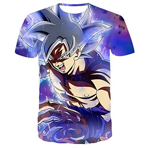 MEIPINPAI Camisetas Camiseta gráfica Goku para Hombre con Estampado Completo Turtle Ball Z Songoku Dragon Teen Camisa Deportiva Personalizada Popular-UNA_4XL