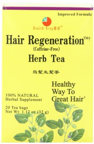 Health King Hair Regeneration Herb Tea, Teabags, 20-Count Box (Pack of 4)
