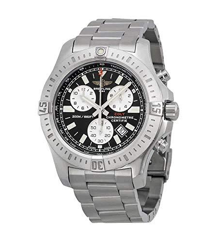 Breitling Colt cronografo nero quadrante acciaio mens orologio a7338811-bd43ss