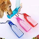 MHJF Botella Agua para Perros Portatil Gato Botella De Alimentación para Mascotas Botella De Agua Potable Perros Botella De Agua Botella De Viaje Al Aire Libre Agua