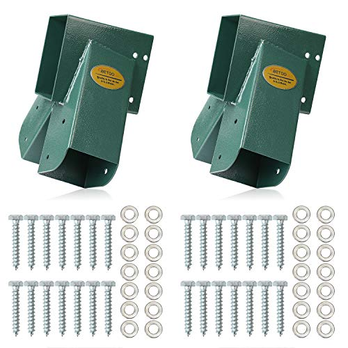 BETOOLL AFrame 2 Brackets Swing Set Bracket with Mounting Hardware Green