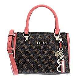 Guess Borsa a mano/tracolla Camy girlfriend satchel small brown/multi donna B21GU03