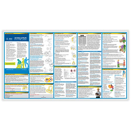 ComplyRight OSHA All-in-One-Safety Poster with GHS Updates- Employee Information Poster