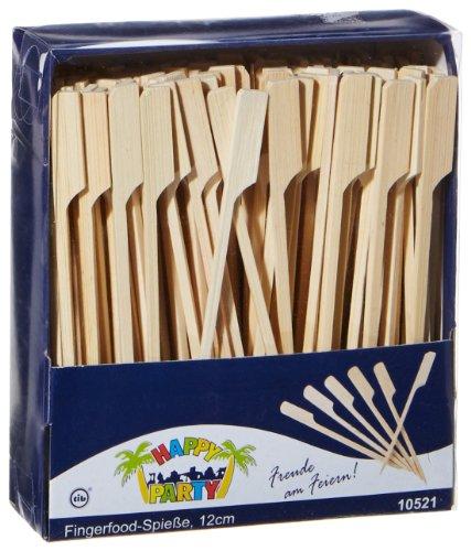 tib 10521 Bamboe Vinger Voedselspiesjes Set van 200 stuks per doos, Lengte-12 cm, Multi kleuren, One Size