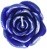 Zest Candle 12-Piece Folding Candles, 3-Inch, Blue Rose