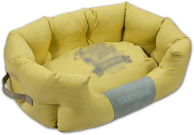 Pet house kennel Piccolo cane Pet kennel nido Pet lett mat Lavabile Quattro stagioni disponibili (colore: D, Dimensione: 65 * 40 * 26)