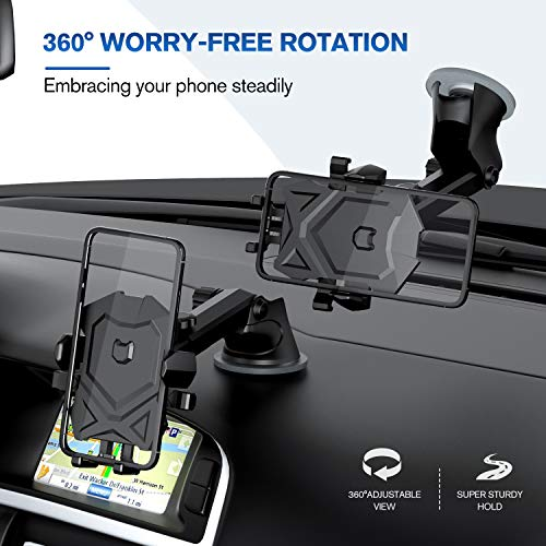 Phone Holder for Car,Universal Long Neck Car Mount Holder Compatible with iPhone Xs XS Max XR X 8 8 Plus 7 7 Plus S10 S9 S8 S7 S6 LG and More