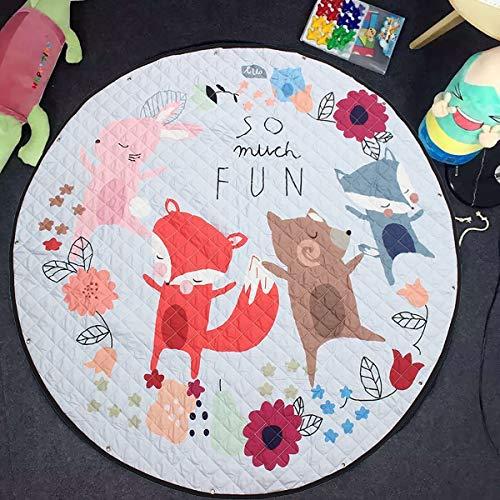 X-Labor Saco de limpieza para niños, diseño de dibujos animados, alfombra de juegos de juguete, bolsa de almacenamiento para habitación infantil, 150 cm, diseño D