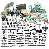 HYZM Armas Militares Juguete, 150 Piezas Militares de Juguete Set de Armas y Casco para Minifiguras Policía Soldados SWAT, Compatible con Figuras de Lego