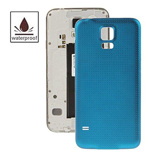 WANGZHEXIA Reemplazo de la Cubierta Posterior del teléfono Cubierta de Puerta de alojamiento de la batería de Material plástico función Impermeable para Galaxy S5   G900