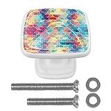 Perillas geométricas abstractas para gabinetes de cocina Perillas de cristal para aparador, cajón, gabinete, cajones para gabinetes de cocina, armarios, estanterías cómoda