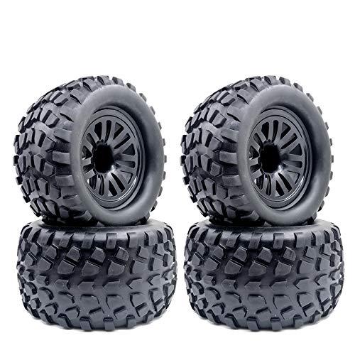 FidgetFidget RC Truck Reifen, 4Pcs 130mm RC Reifen & Rad für 1:10 RC Truck, für Traxxas Tamiya Kyosho HPI HSP Savage XS TM Flux LRP 4 Stück