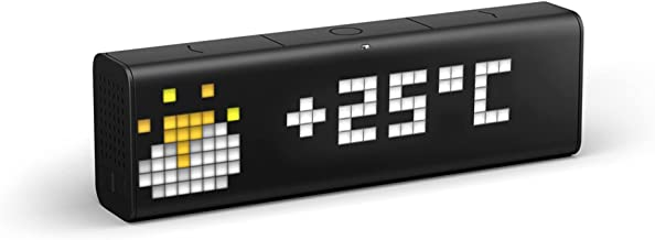 LaMetric Time Wi-Fi Clock for Smart Home, LM 37X8, Black
