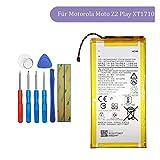 Tangzhi HZ40 Batterie de rechange compatible avec Motorola Moto Z2 Play XT1710 SNN5985A 3,8 V avec...