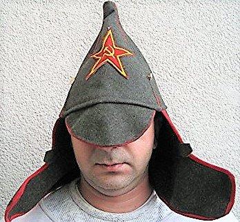 Budjonny Mütze, Rote Armee, Russland, Sowjetunion,Fasching , Karneval. Putin,Moskau, Gr.56