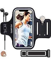 """VGUARD Sportarmband voor mobiele telefoon, joggen, hardlopen, hardloop armband voor iPhone, Samsung Galaxy, Huawei met scherm tot 6,2"""" tas voor sleutelkabels, sleutelhouder en kaart Slot- Zwart"""