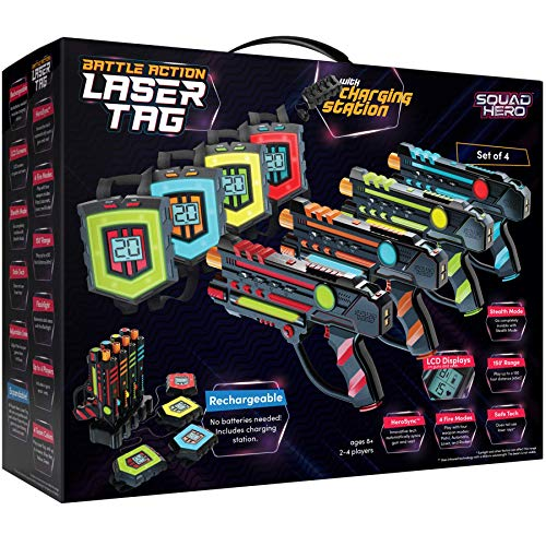 Squad Hero Rechargeable Laser Tag Set + Innovative LCDs and...
