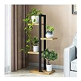 &Macetero Soporte de flores, estantes de exhibición de soporte de plantas de varias...