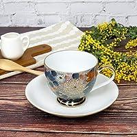 九谷焼 コーヒーカップ&ソーサー 金花詰 陶器 食器 日本製 ブランド