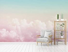 Muurschildering Behang 3D Muur Art Woonkamer Slaapkamer, Roze Wolk Landschap - Foto Art Print Moderne Natuur Landschap Cin...