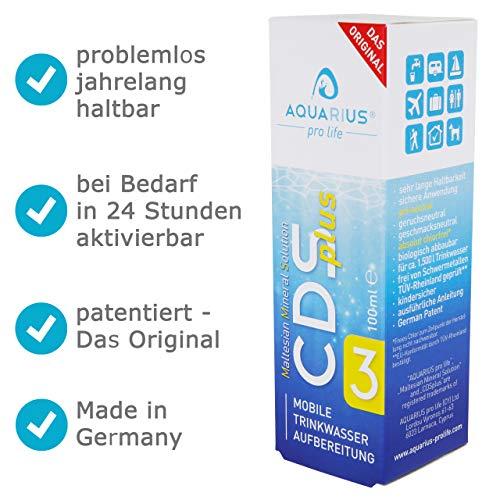 AQUARIUS pro life® - CDSplus 100 ml - patentierte ChIordioxid-Lösung I CDL CDS-Tropfen I auf Wunsch aktivierbar I Das Original I Made in Germany