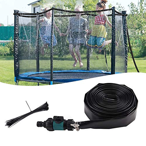 Aspersor De Trampolín, Sistema De Enfriamiento Al Aire Libre De Nebulización, 12M Water Play Sprinklers Pipe para Niños Diversión Al Aire Libre