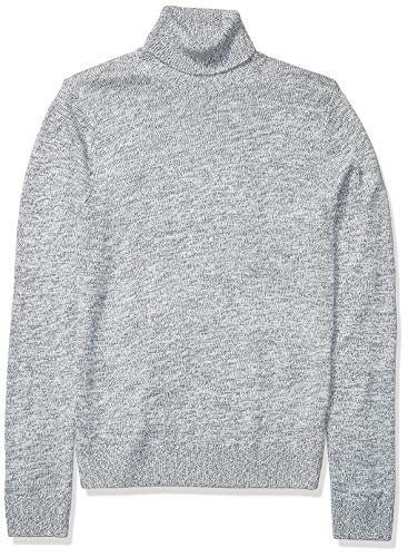 Amazon Brand - Goodthreads Men's Supersoft Marled Turtleneck Sweater, Denim Large