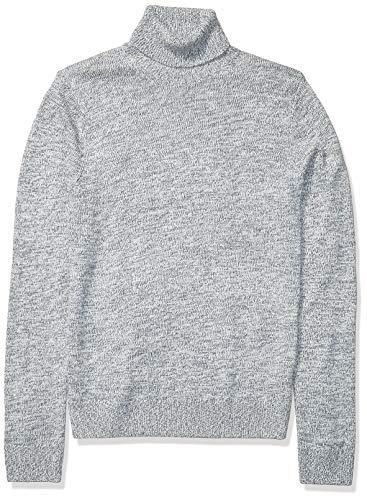 Amazon Brand - Goodthreads Men's Supersoft Marled Turtleneck Sweater, Denim X-Small