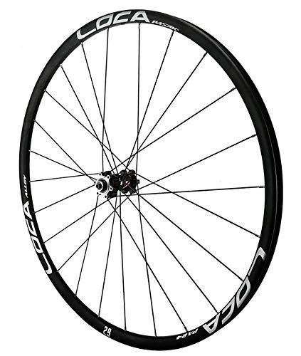 26'/27.5' / 29'Pulgadas Mountain Bike Wheelset Placa de aleación de Doble Capa Rim 12 Velocidad con HUB DE PULLO Recto 24 Agujeros DE Disco DE Disco 5 PANTANTE Reloj (Color : Black, Size : 29IN)