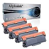 Alphaink 4 Toner compatibili con Brother TN-2310 TN-2320 per stampanti Brother DCP-L2500 L2520D L2560DW HL-L2300D HL-L2360D HL-L2340DW HL-L2365DW HL-L2320D L2360DW L2380DW MFC-L2740DW MFC-L2700DW