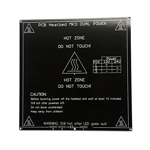 Fuer RepRap MK3Heated Bed 3mm Aluminum PCB Board Heat Bed 12V/24V Dual Power For RepRap stampante 3d Prusa i3