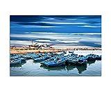 Paul Sinus Art 120x80cm - WANDBILD Marokko Ozean