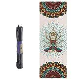 CXSMKP Estera De Yoga Viajes Set, Eco Antideslizantes De Las Esteras del Ejercicio para El Hogar, Ideal para El Yoga Caliente Yoga Pilates, Incluyen Yoga Bolsa, 183X61x0.5 Cm