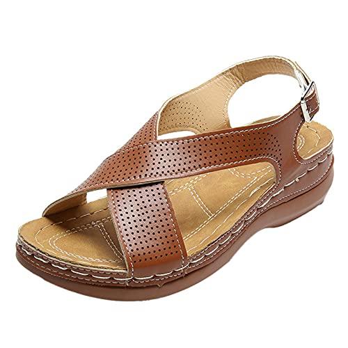 KONGLYLE Sandália de caminhada feminina ortopédica confortável premium para o verão, ao ar livre, caminhada, caminhada